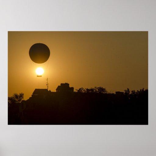 Sunset Balloon Posters