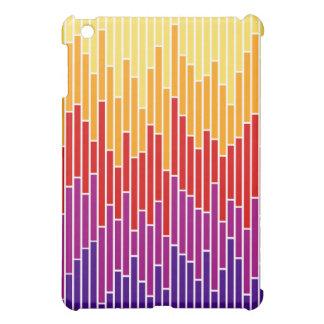 Sunset Bar Chart Stripes iPad Case