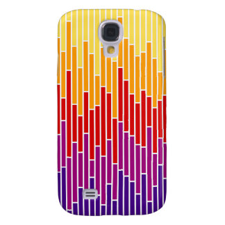 Sunset Bar Chart Stripes iPhone 3G Case Galaxy S4 Cases