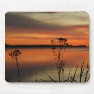 SUNSET BARAGA LAKE in Michigan mousepad