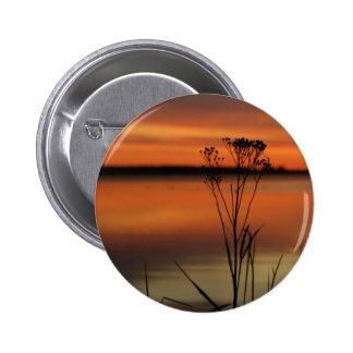 SUNSET BARAGA LAKE in Michigan Pinback Button