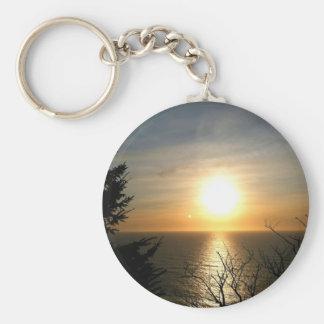 Sunset Basic Round Button Keychain
