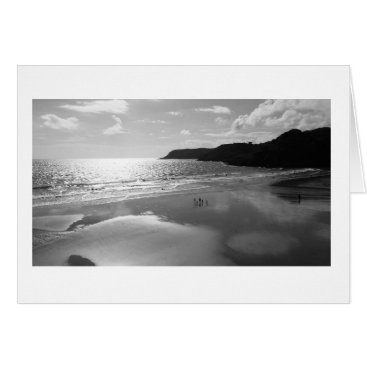 "Beach Themed Sunset Bay (Black & White)- (5"" x 7"") RBDStore Card"