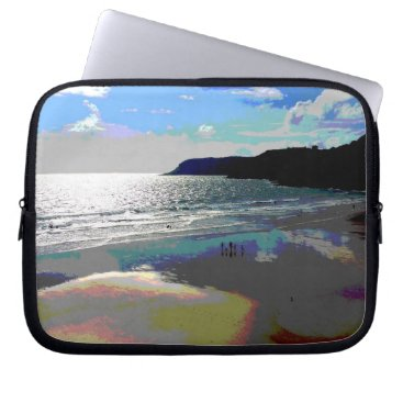 Beach Themed Sunset Bay Laptop Sleeve 10 in (Posterized) RBD