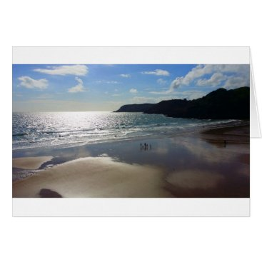 "Beach Themed Sunset Bay - Standard (5"" x 7"") Greetings Card"