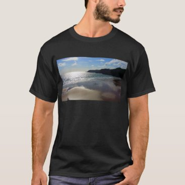 Beach Themed Sunset Bay Summer Mens T-Shirt - Photo Tee Sunpyx