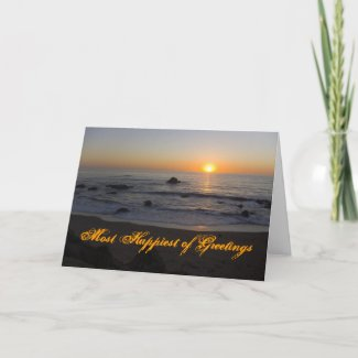Sunset Beach Birthday card