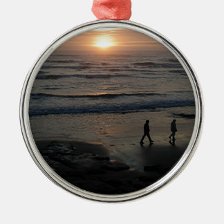 """Sunset Beach"" by Lewis Evans Metal Ornament"