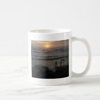 """Sunset Beach"" by Lewis Evans Coffee Mugs"