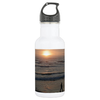 """""""Sunset Beach"""" by Lewis Evans Stainless Steel Water Bottle"""