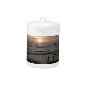 """Sunset Beach"" by Lewis Evans Teapot"