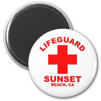 Sunset Beach California 2 Inch Round Magnet