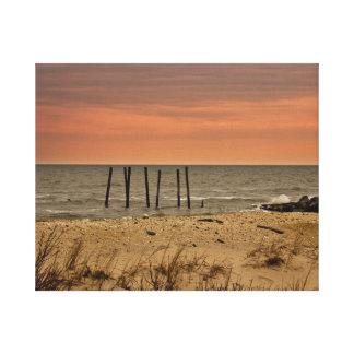 Sunset Beach Stretched Canvas Print
