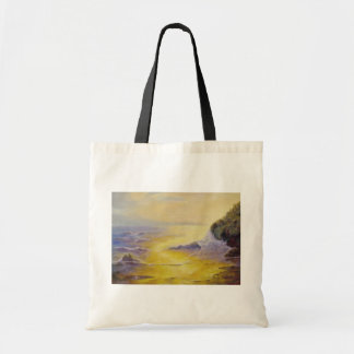 Sunset Beach Canvas Tote Bag