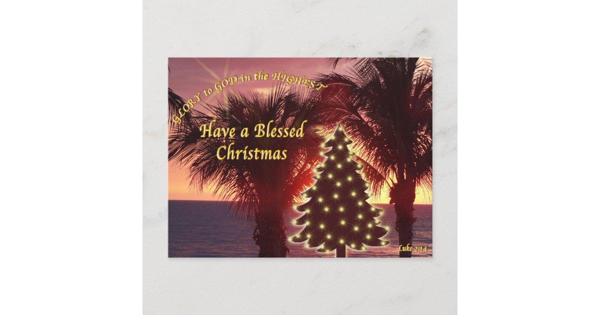 Sunset Beach Christmas Cards Christian | Zazzle.com