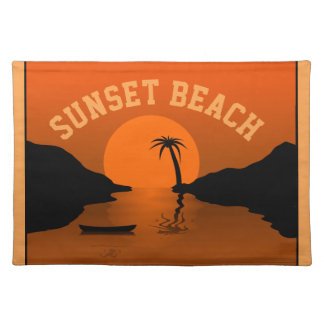 Sunset Beach Cloth Placemat