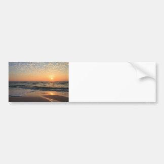 Sunset, Beach, & Clouds Car Bumper Sticker