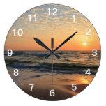 Sunset, Beach, & Clouds Wall Clocks
