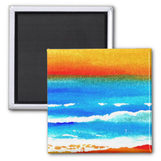Sunset Beach CricketDiane Ocean Art Magnet