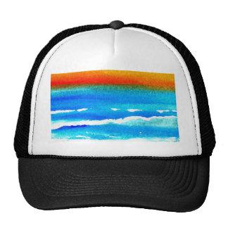 Sunset Beach CricketDiane Ocean Art Trucker Hat