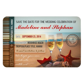 Sunset Beach Destination Save The Date Magnets