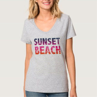 sunset beach distressed vintage vacation retro 80s t shirt