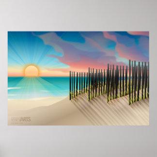Sunset Beach Dunes Print