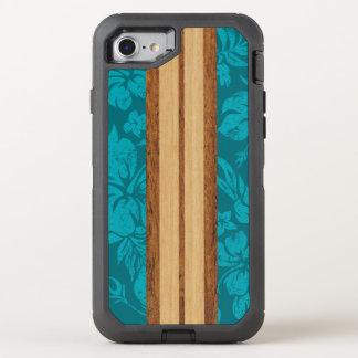 Sunset Beach Faux Wood Surfboard Hawaiian OtterBox Defender iPhone 7 Case