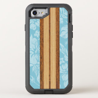Sunset Beach Faux Wood Surfboard Hawaiian OtterBox Defender iPhone 8/7 Case
