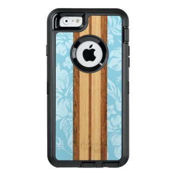 Sunset Beach Faux Wood Surfboard Hawaiian Otterbox Defender Iphone Case by DriveIndustries at Zazzle