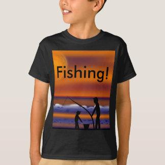 Sunset Beach - Fishing T-Shirt