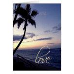 Sunset beach ... greeting cards