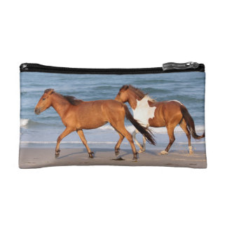 Sunset Beach Horse Cosmetic Bag