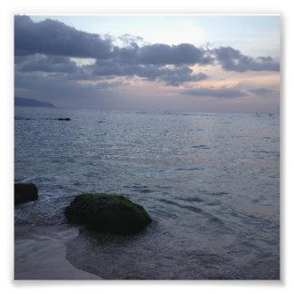 Sunset & Beach in Hawaii Photo Print