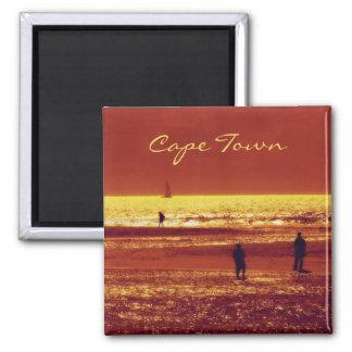 Sunset beach landscape magnets. Customize