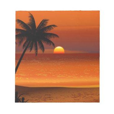 sunset beach oahu hawaii north shore postcard notepad