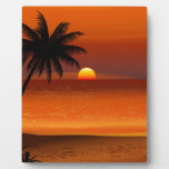 sunset beach oahu hawaii north shore postcard plaque