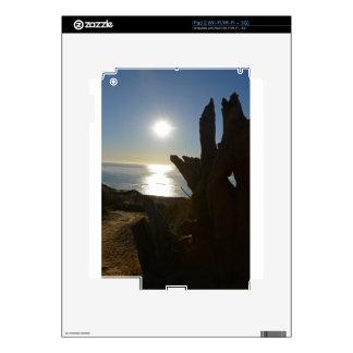 Sunset beach ocean decal for the iPad 2