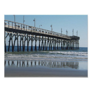 Sunset Beach Pier North Carolina Poster