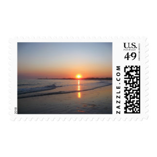 Sunset * Beach Postage Stamps