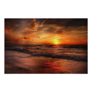 Beach Themed Sunset Beach Poster
