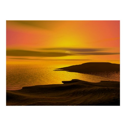 Sunset Beach Print