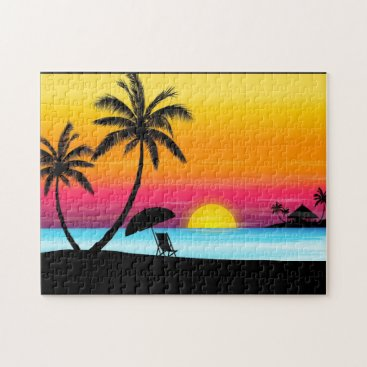 sunset beach puzzle