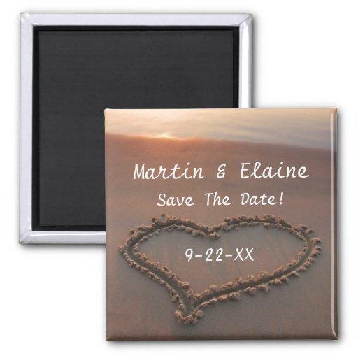 Sunset Beach Save The Date Custom Wedding Magnet