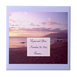 Sunset Beach Save the Date Tiles