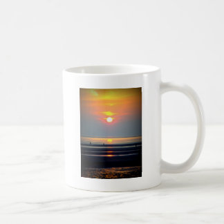 Sunset Beach Scene, Crosby, Liverpool UK Coffee Mug