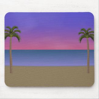 Sunset Beach Scene: Custom Mousepad