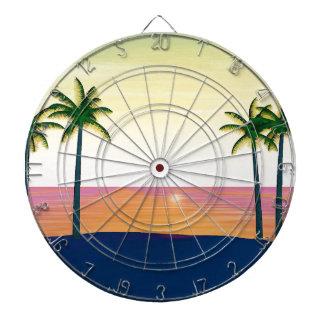 Sunset Beach Scene Dart Board