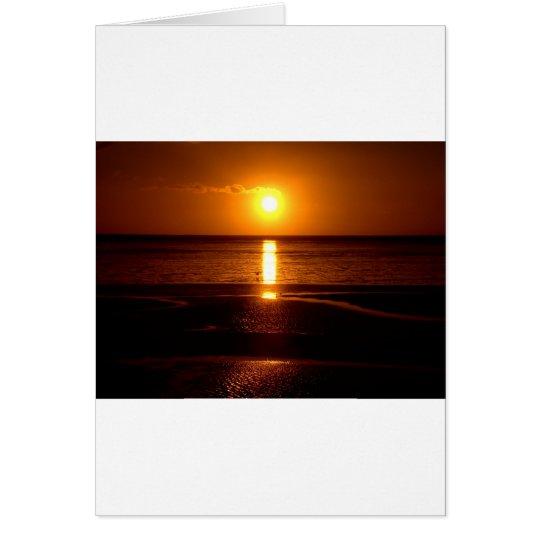 Sunset Beach Scene.JPG Card
