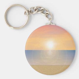 Sunset Beach Scene: Keychain
